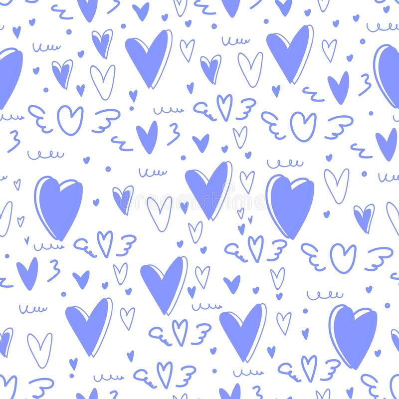Cute heart seamless pattern background. royalty free illustration