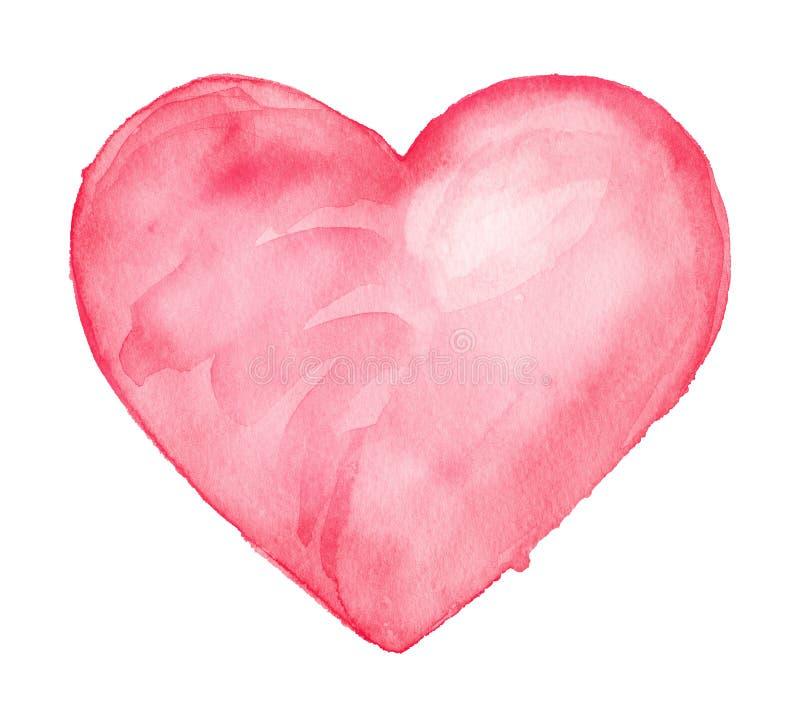 Cute Heart. Watercolor Illustration Stock Illustration ...