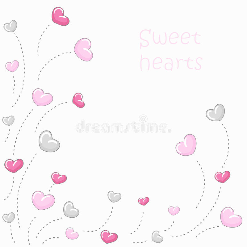 Cute hearts background 2 royalty free illustration