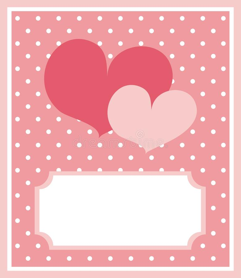 Download Cute Hearts Card With Dots Background Stock Vector - Illustration: 18216352