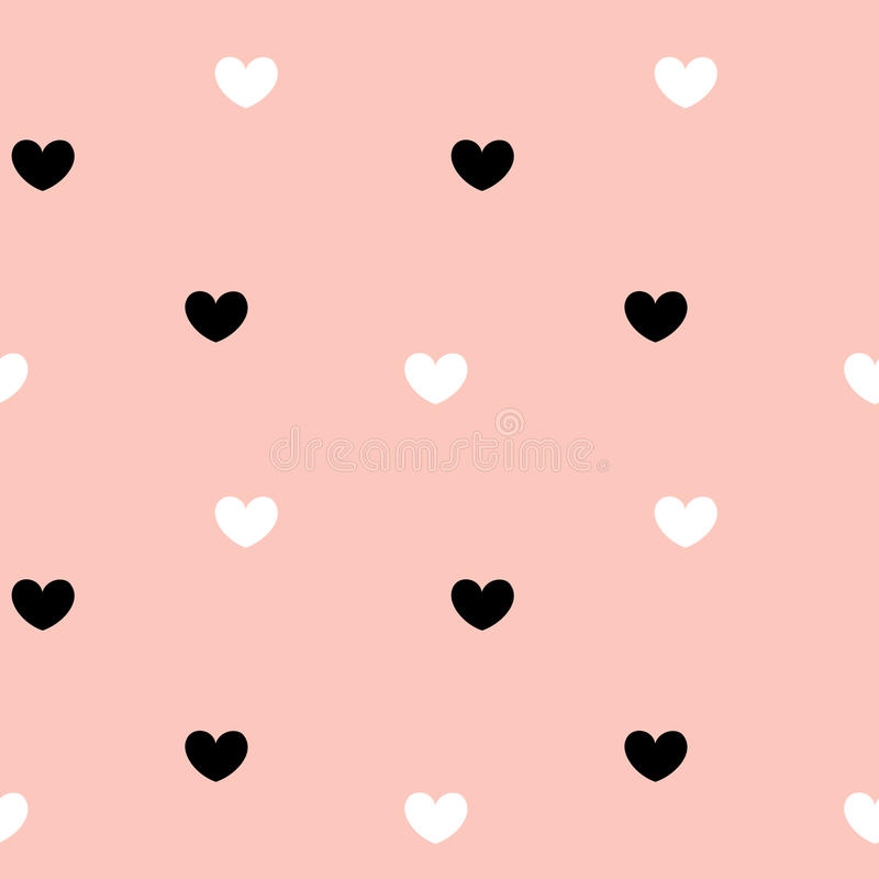Cute hearts seamless pattern background illustration. Cute hearts seamless vector pattern background illustration vector illustration