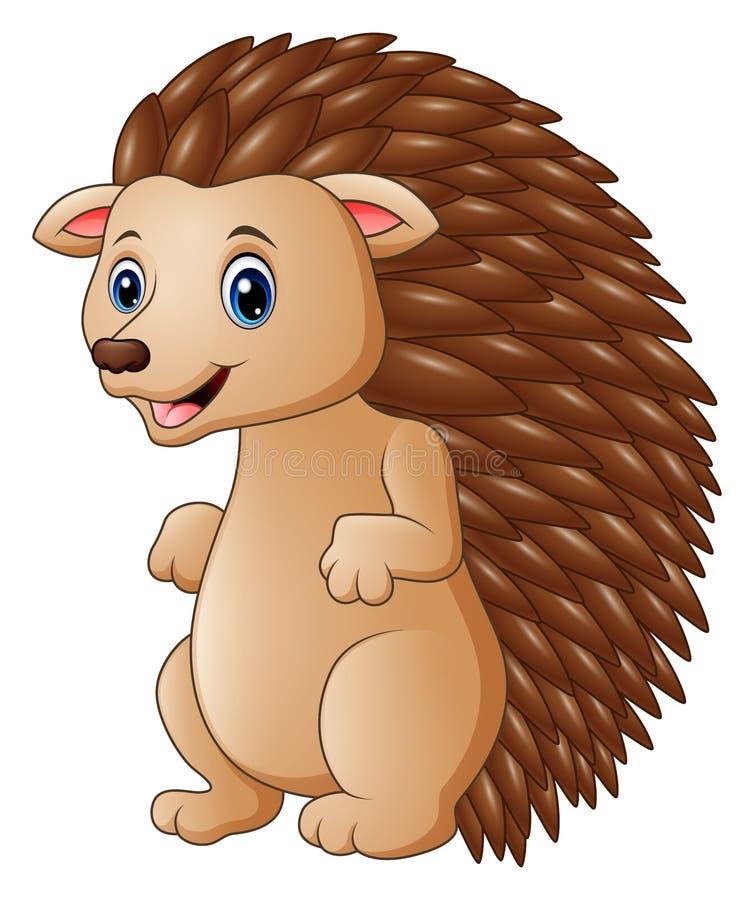 Cute hedgehog cartoon royalty free illustration