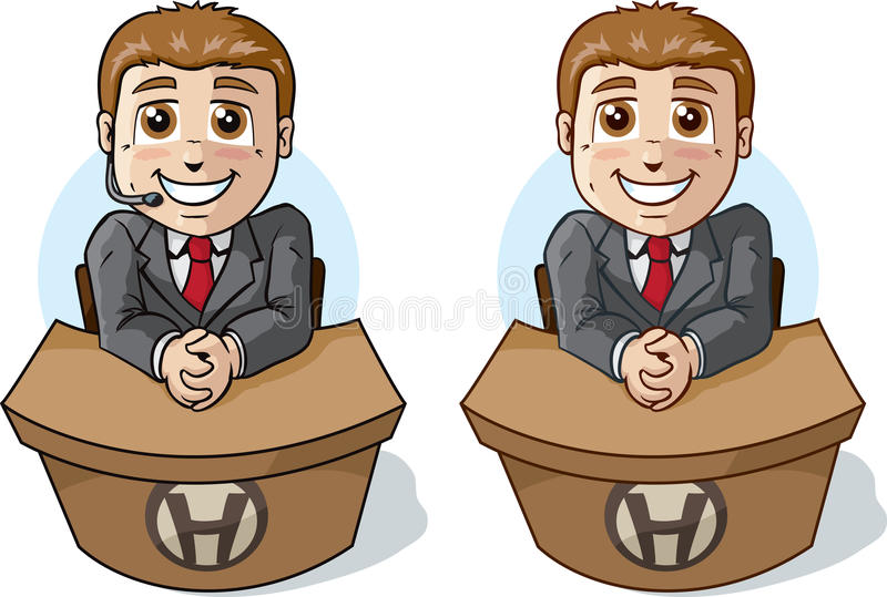 Download Cute Help Desk Royalty Free Stock Image - Image: 38346656