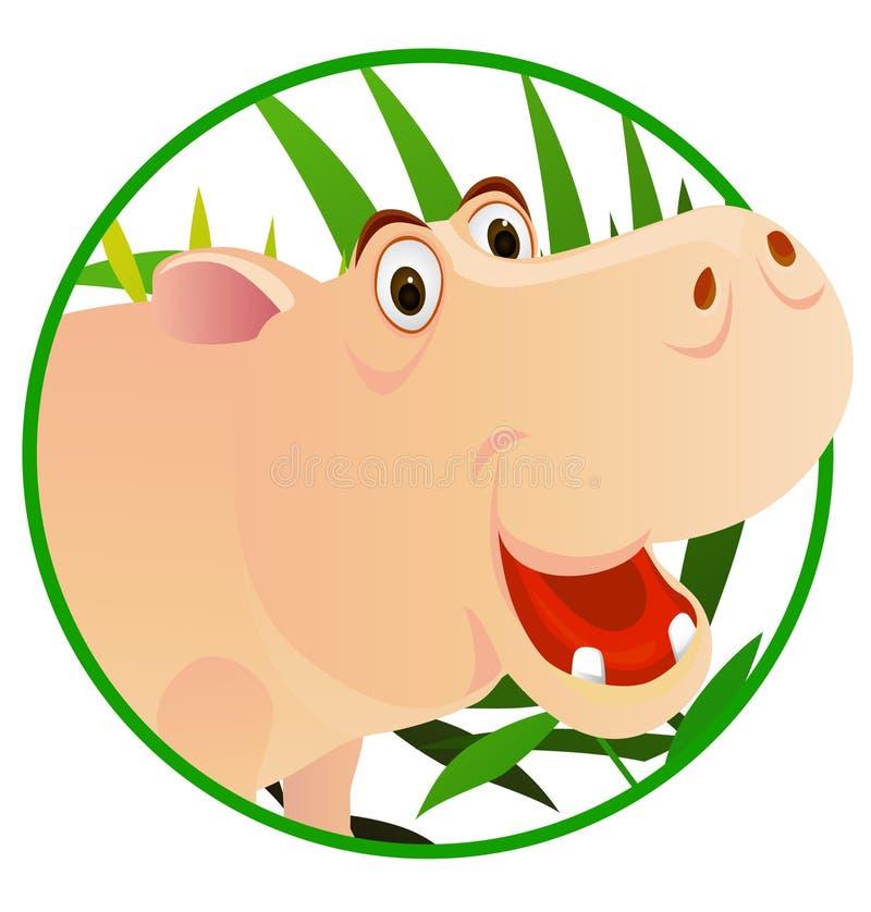 Download Cute hippo stock vector. Image of happy, closeup, circle - 14148294