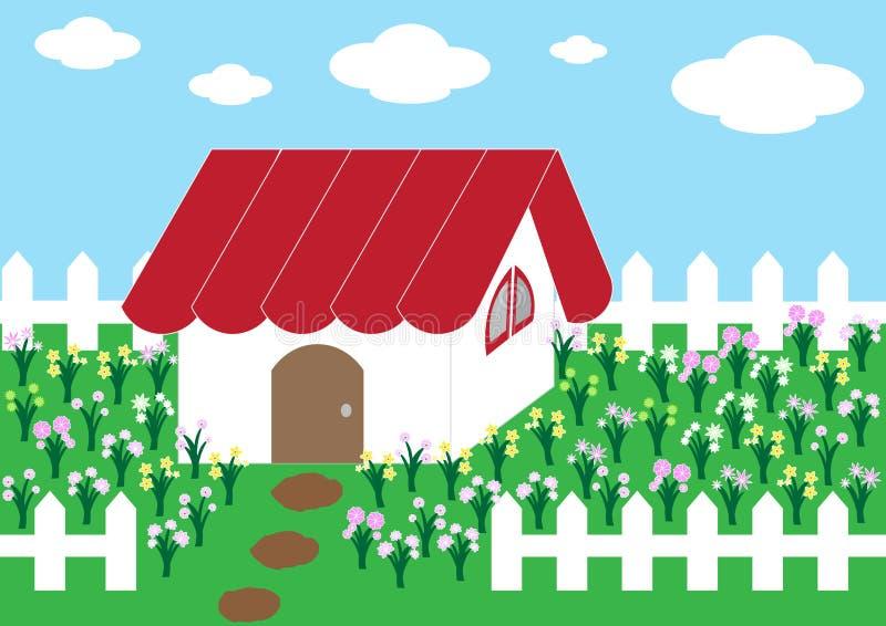 cute home flower garden stock vector   image 49324993