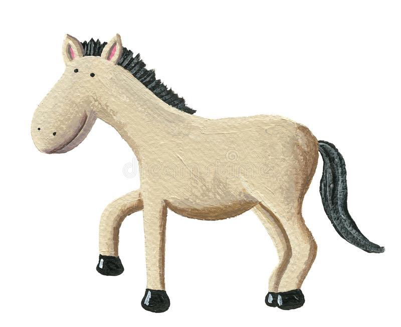 Cute horse stock illustration
