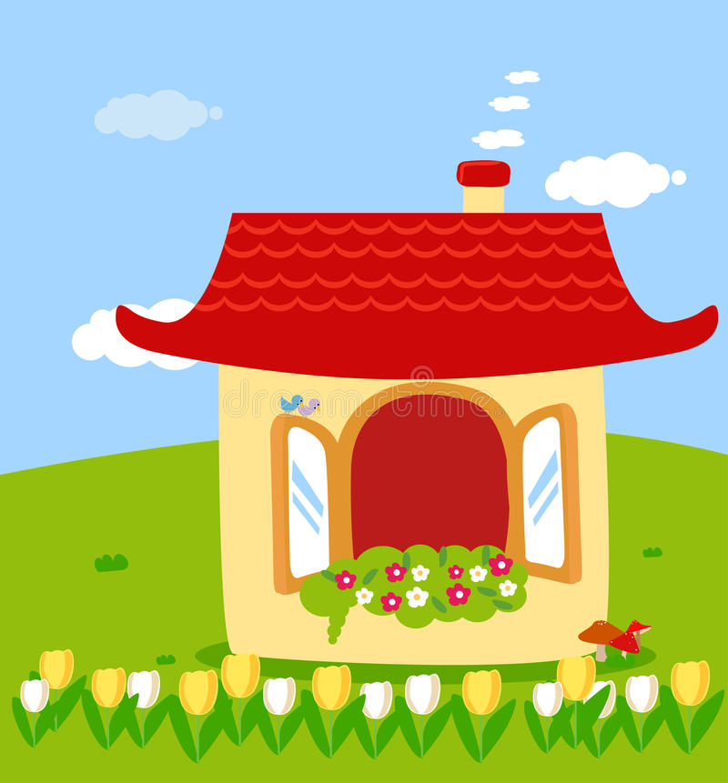 Cute house royalty free illustration