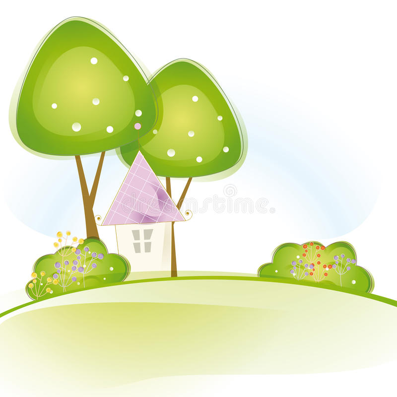 Free Cute House Royalty Free Stock Photography - 27389157