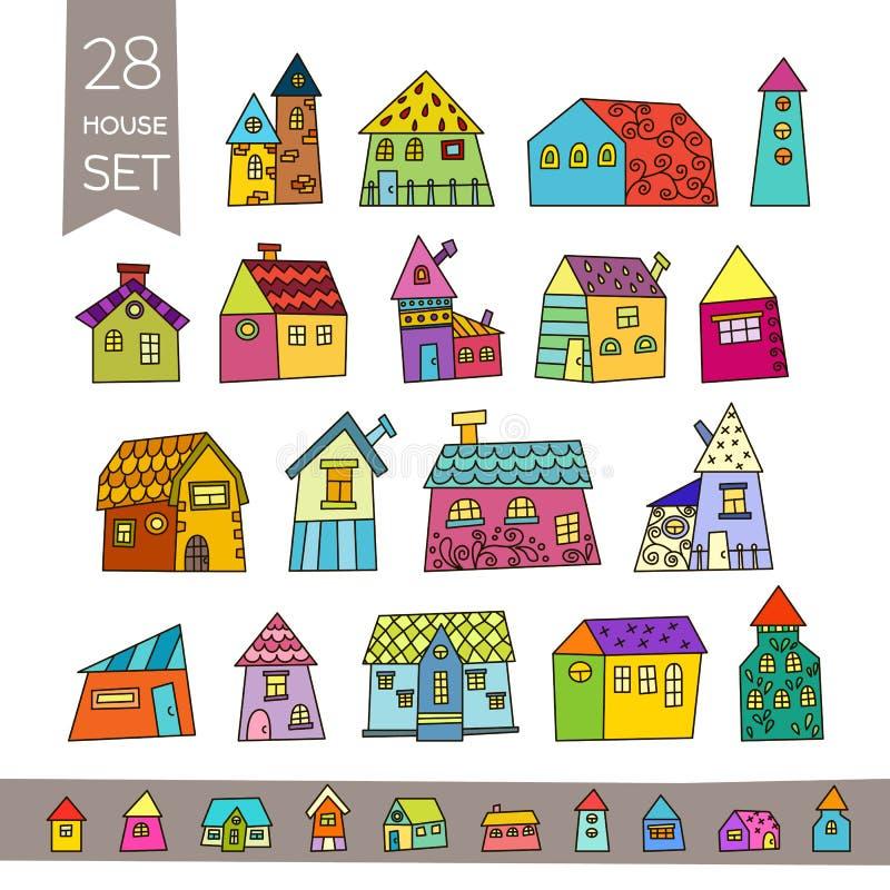 Cute House Set Hand Drawn House Stock Vector Illustration Of Cartoon Hand 70072758