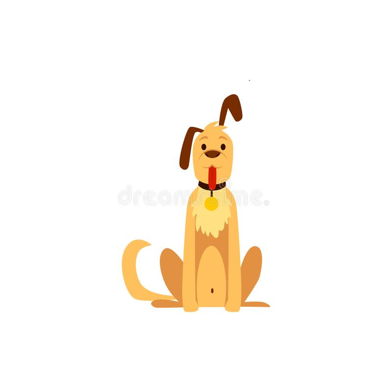 Cute hunter dog, pet and friend. Symbol and concept of hunting and protection. royalty free illustration