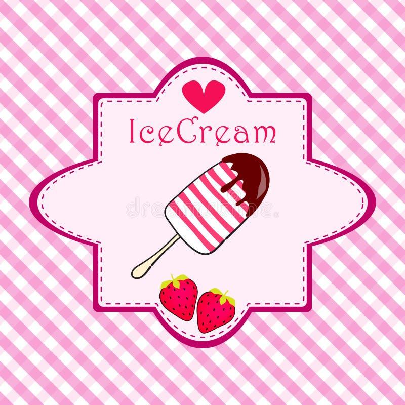 Cute Ice Cream Illustration Royalty Free Stock Photo