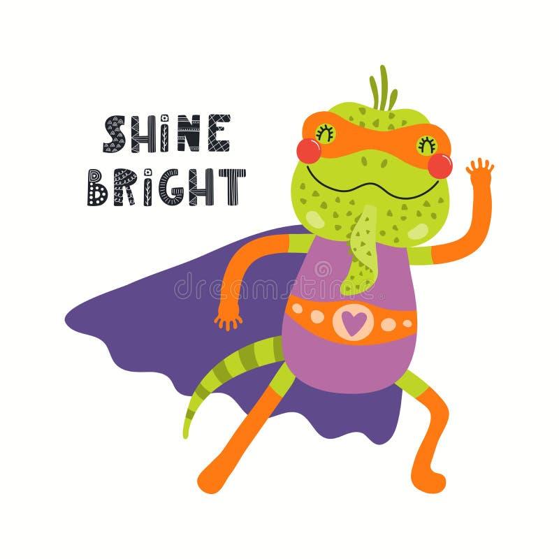 Free Cute Iguana Superhero Royalty Free Stock Images - 144024299