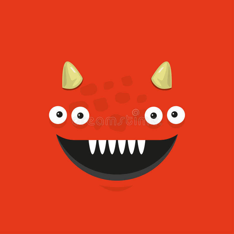 Cute illustrated monster. stock images