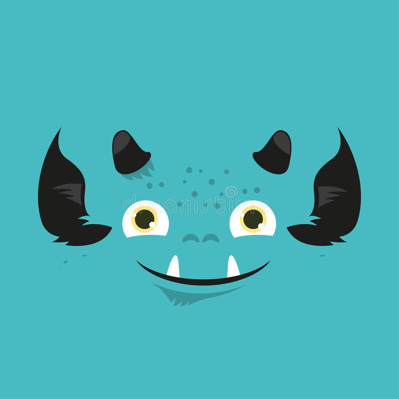 Cute illustrated monster. royalty free stock images
