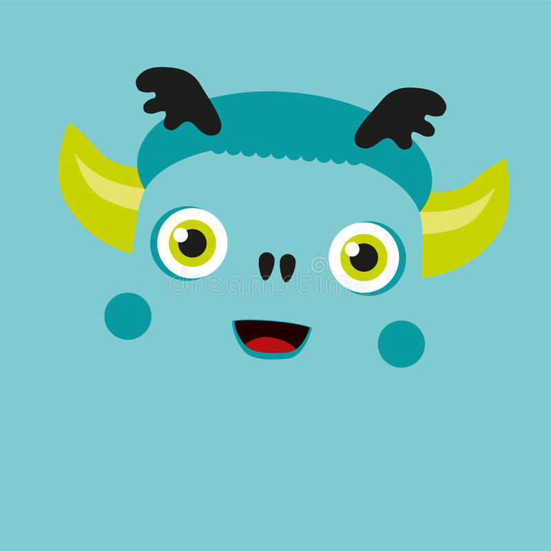 Cute illustrated monster. royalty free stock photo