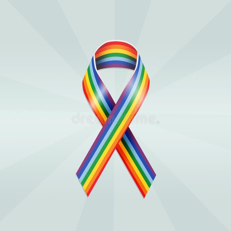 Illustration of Peace ribbon royalty free illustration