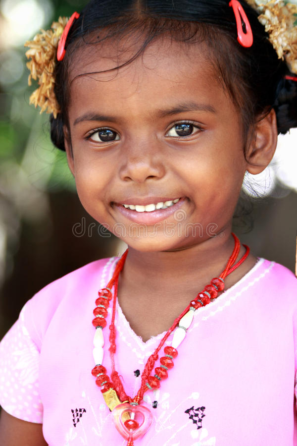 Download Cute Indian Village Girl Stock Photo - Image: 18402990