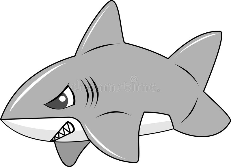 Cute Inflated Shark Royalty Free Stock Photo