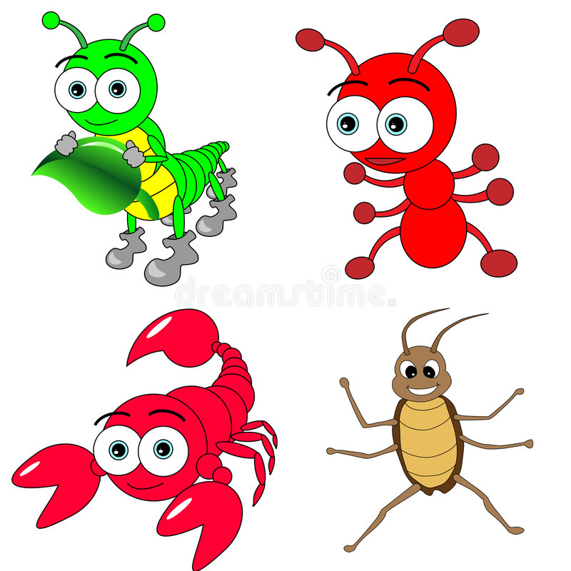 Free Cute Insects Set Royalty Free Stock Photography - 8572657