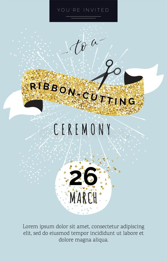 Cute invitation card you are invited to a ribbon cutting ceremon download cute invitation card you are invited to a ribbon cutting ceremon stock vector stopboris Image collections