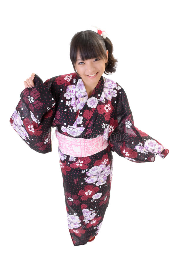 Download Cute japanese girl stock photo. Image of asia, antique - 16618326