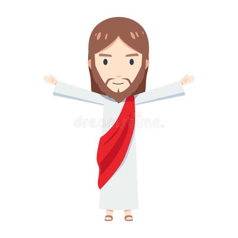 Cute Jesus Christus hebt seine Hand so weit vektor abbildung