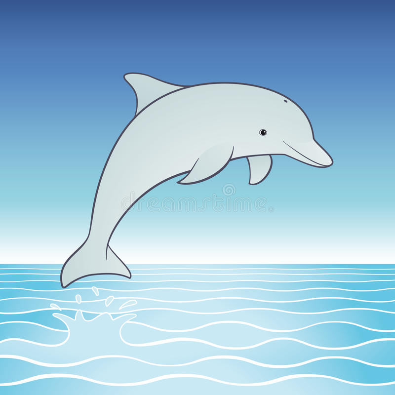 Download Cute Jumping Dolphin stock vector. Image of nature, life - 20805028