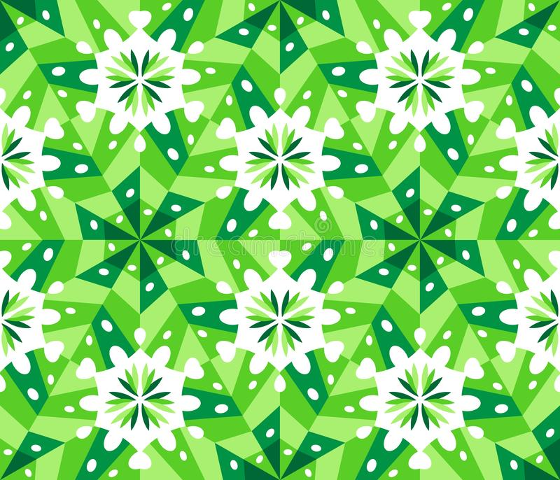 Cute Kaleidoscope Seamless Pattern as abstract geometric elements vector illustration