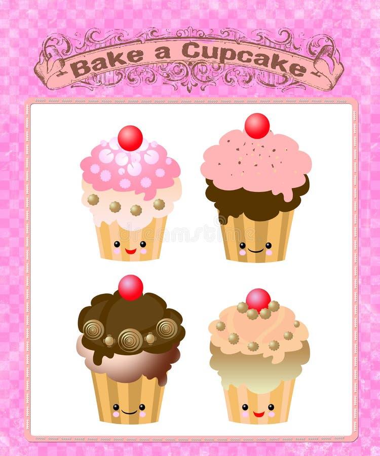 Download Cute Kawaii Cup Cake Stock Image - Image: 26498381