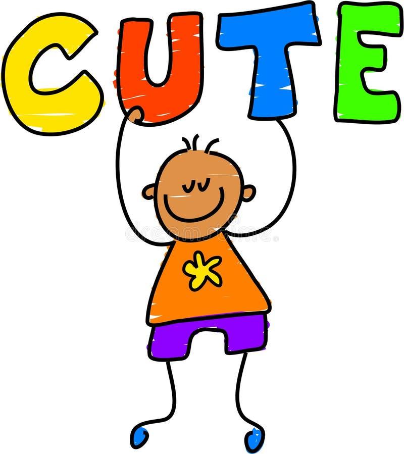 Cute kid stock illustration