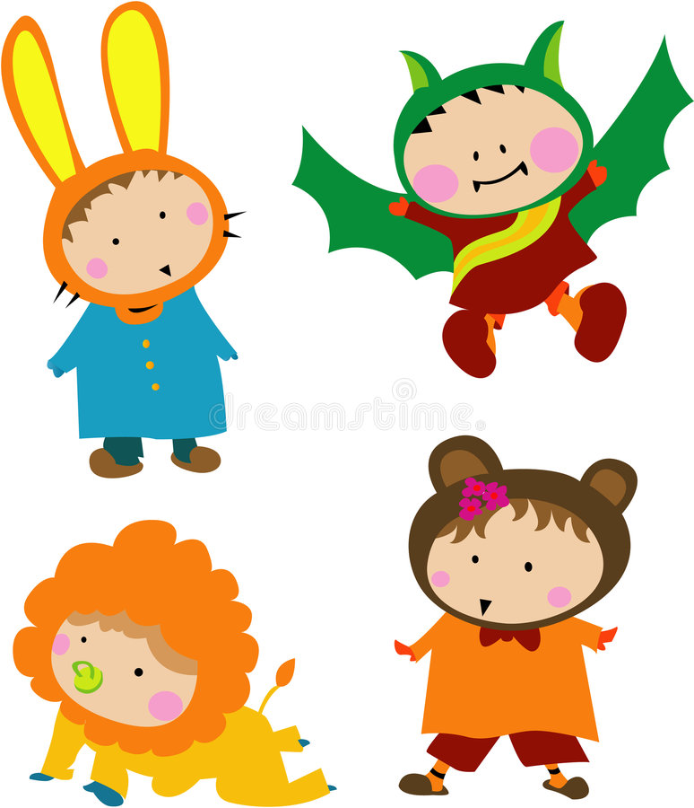 Cute Kid Costume stock image