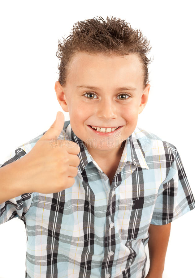 Download Cute Kid Making Thumbs Up Sign Stock Photo - Image: 10482330