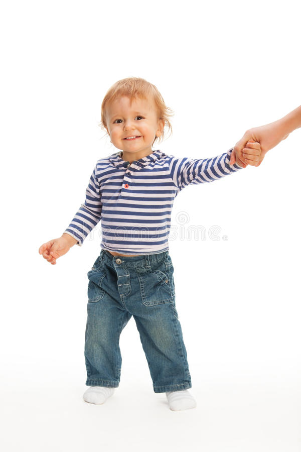 Download Cute Kid Pulling Parent's Hand Stock Photo - Image: 22665380