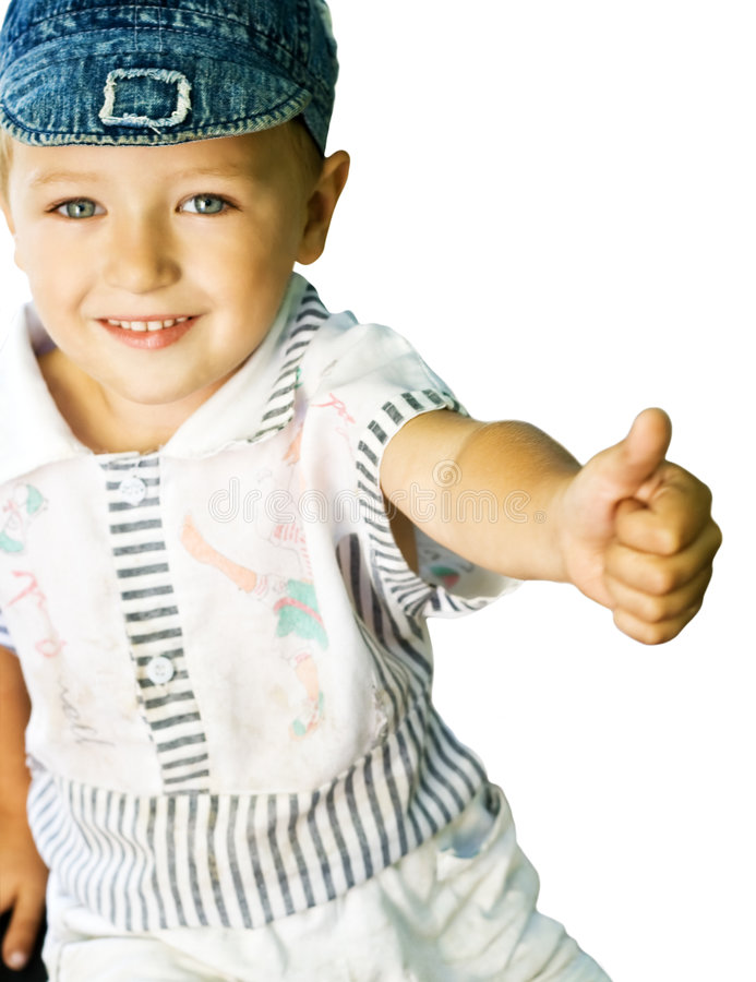 Download Cute kid showing ok sign stock image. Image of good, looking - 5789581