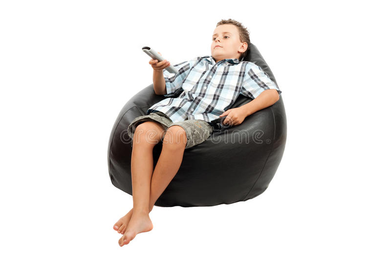 Download Cute kid watching tv stock image. Image of shirt, television - 10491345