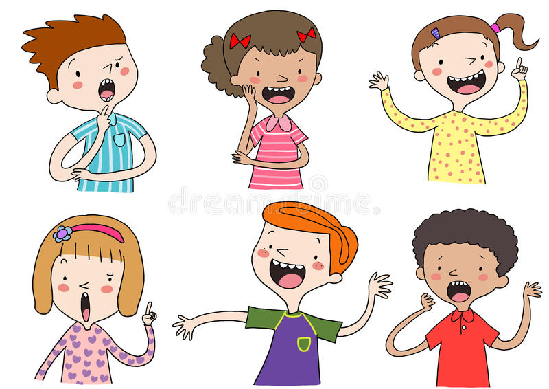 Cute kids vector illustration