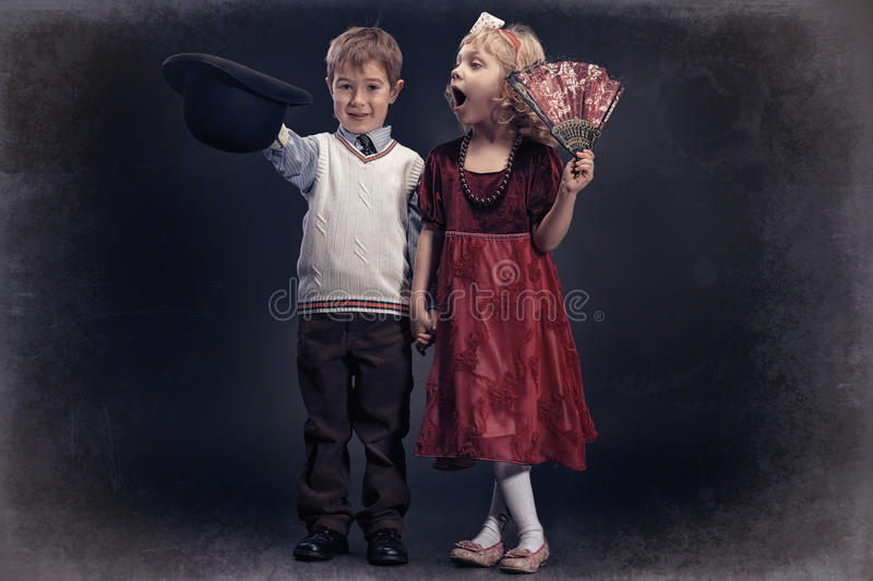 Cute kids royalty free stock images