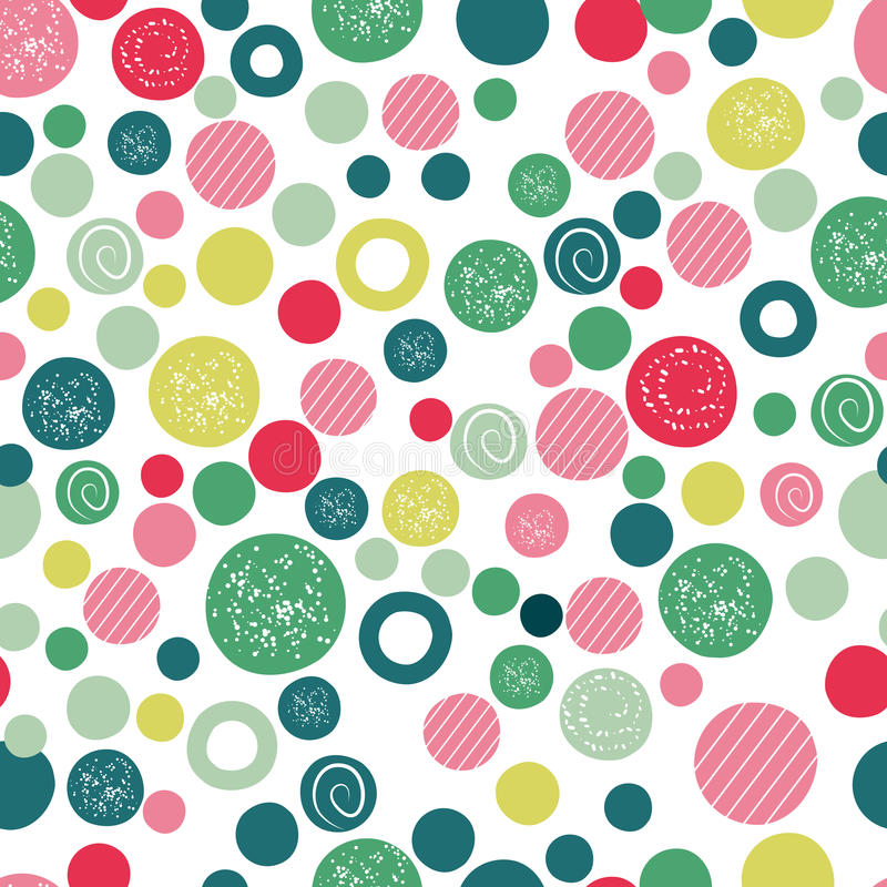 Cute kids background design with polka dot children seamless pattern. Polka dots color decoration backdrop illustration vector illustration