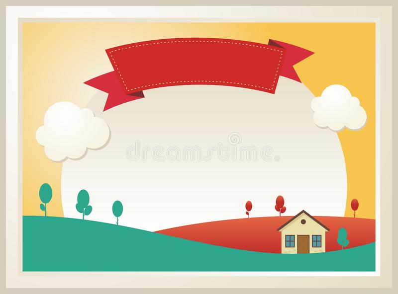 Cute Kids Diploma template design stock illustration