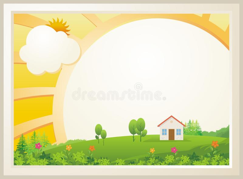 Cute Kids Diploma template design vector illustration