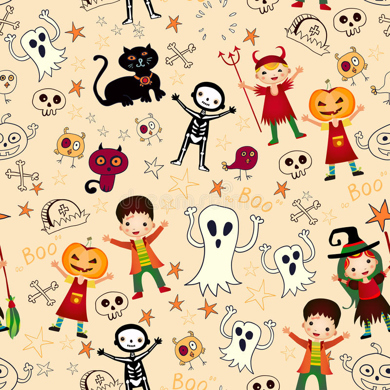 Download Cute Kids In Halloween Costumes Royalty Free Stock Images - Image: 35207769