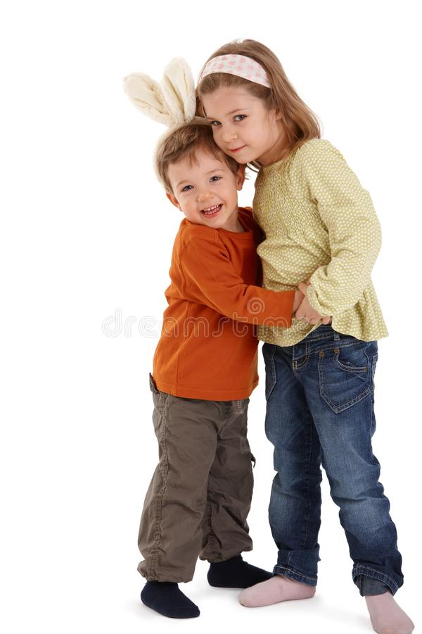Download Cute kids hugging stock photo. Image of blonde, face - 18848374