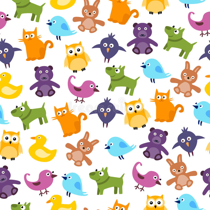 Cute Kids Pattern vector illustration