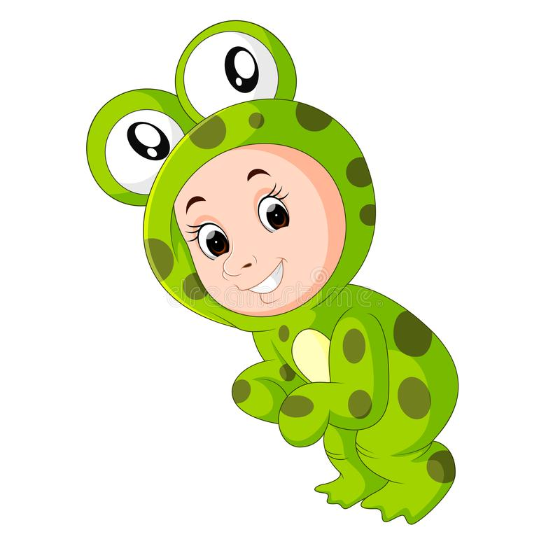 Cute kids wearing animal costumes. Illustration of cute kids wearing animal costumes stock illustration