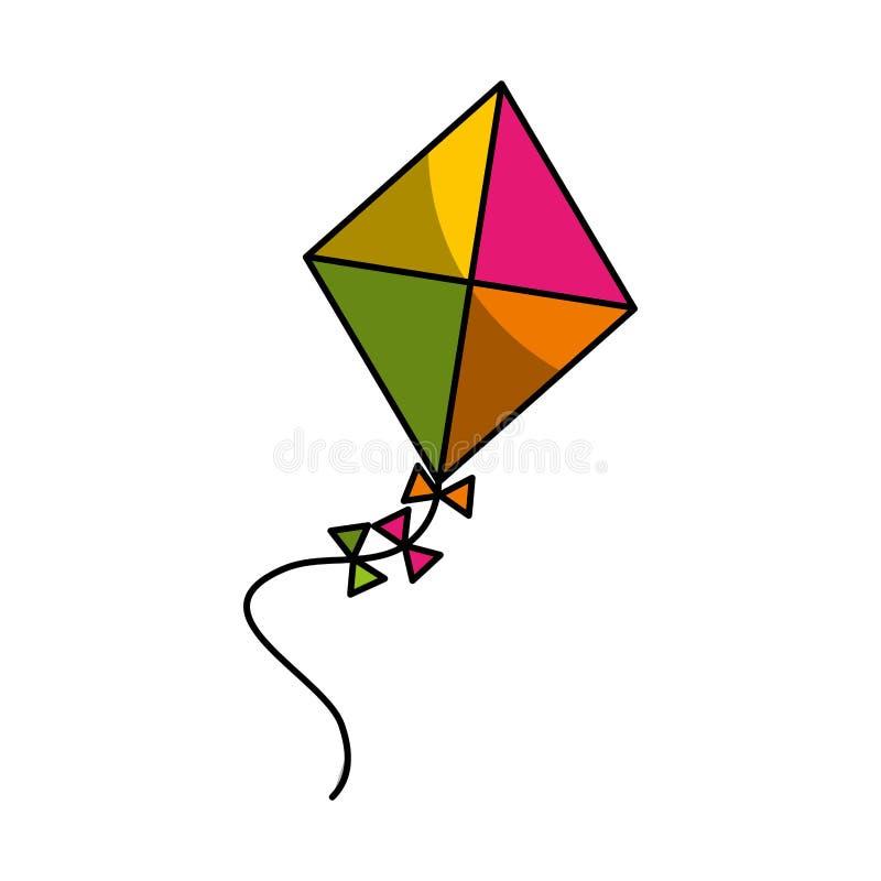 Cute kite flying icon royalty free illustration