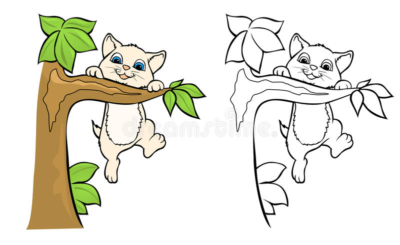 Download Cute Kitten wall decal stock vector. Illustration of illustration - 25083508