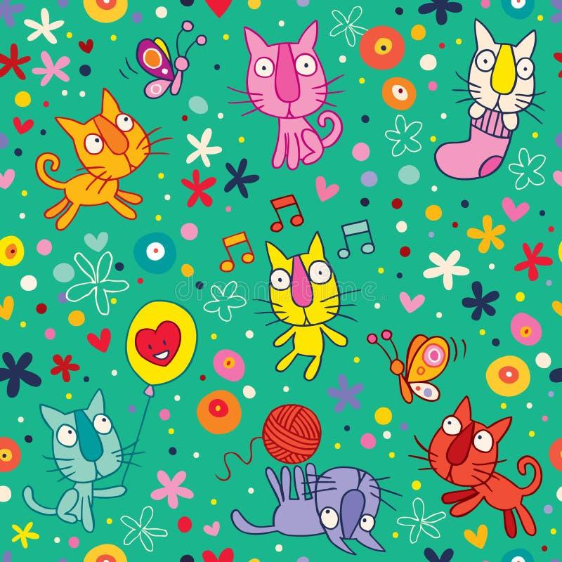 Download Cute kittens pattern stock vector. Illustration of kids - 28891382