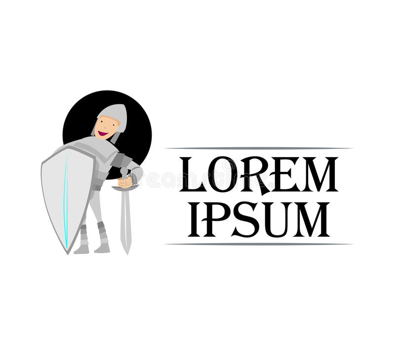 Download Cute Knight Logo Design stock illustration. Image of holding - 83706482