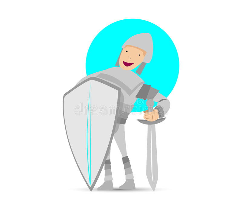 Download Cute Knight Mascot Design stock vector. Image of history - 83705632