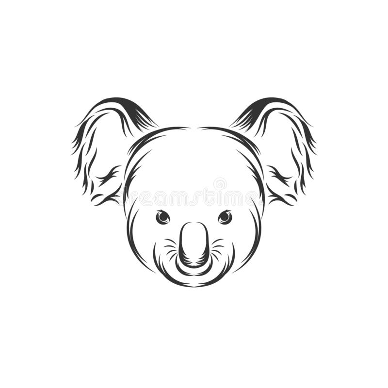 Cute Koala Face Vector Icon vector illustration